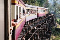 死亡铁路 图库摄影