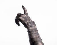 死亡,走的黑手党死,蛇神题材,万圣夜题材,蛇神手,白色背景,妈咪手 免版税库存图片