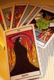 死亡-占卜用的纸牌-预言 免版税库存图片