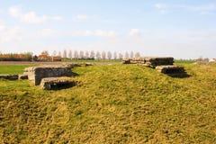 死亡WW1散兵坑沟槽在Diksuimde富兰德比利时 免版税库存图片