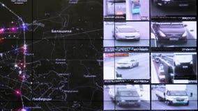 交互式地图在交通监控中心显示统计 股票视频