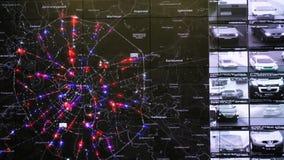 交互式地图在交通监控中心显示统计 股票录像