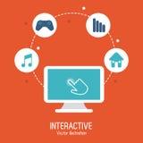 交互式技术设计 库存例证