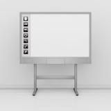 交互选择whiteboard 库存例证