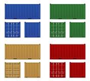 交付的merchandi的货箱和运输 向量例证
