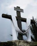 交叉在十字架上钉死 库存图片