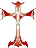 交叉基督徒宗教符号向量 免版税库存图片