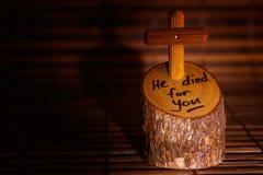 交叉复活节耶稣 图库摄影