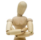 交叉它的双臂的玩偶 免版税库存照片