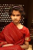 交叉新印第安女孩 免版税库存照片
