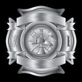 交叉消防队员银 库存照片