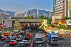 交叉港口香港隧道 库存图片