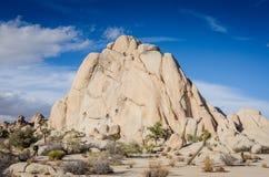 交叉点岩石II -约书亚树国家公园 图库摄影