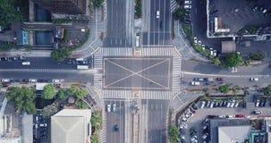 交叉点空中英尺长度有行人穿越道的 影视素材