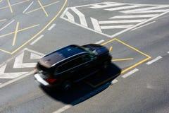 交叉路在中心 免版税库存图片