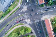 交叉路在城市 免版税图库摄影