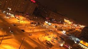 交叉路在城市 股票录像
