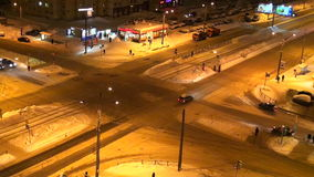交叉路在城市 影视素材