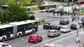 交叉路在威斯巴登,德国的市中心 股票视频