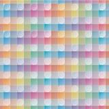 交叠和透明圈子和正方形 五颜六色的无缝的b 库存图片