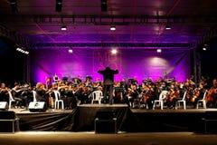 交响乐团的乐队 库存照片
