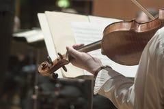 交响乐小提琴 免版税图库摄影