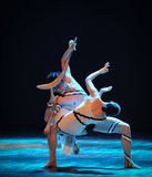 交媾差事到迷宫现代舞蹈舞蹈动作设计者玛莎・葛兰姆里 图库摄影