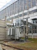 交换器高巨大的行业电压 库存照片
