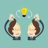 交换想法-在两个个体之间的会话交换 免版税图库摄影