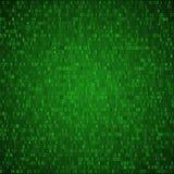 交换换绿色背景 二进制代码 黑客概念 皇族释放例证