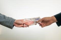 交换英国金钱英镑 免版税库存图片