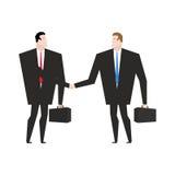 交易事务 握手的经理 握手办公室w 免版税库存图片