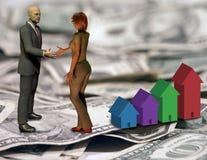 交易住房 免版税库存图片