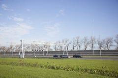交易在乌得勒支和阿姆斯特丹之间的高速公路A2 免版税库存照片