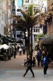 交易在沃尔坎火山车道在街市奥克兰,新西兰 免版税图库摄影
