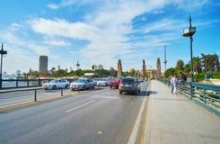 交易在Qasr El零桥梁,开罗,埃及 免版税库存图片
