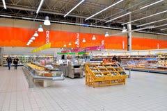 交易场地的全视图和Th的牛奶店部门 图库摄影