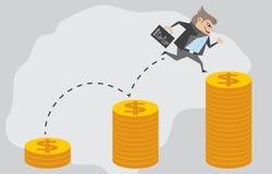 交易起步和发展 向量例证
