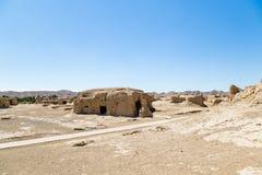 交河故城,吐鲁番,中国 Jushi王国的古都,这是2000多岁 免版税库存照片