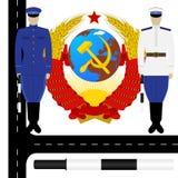 交警在苏联 库存例证