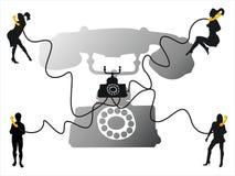 交谈电话 库存照片