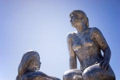 交谈雕塑膨胀节日澳大利亚 图库摄影