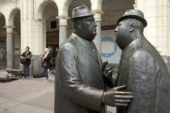 交谈雕象,卡尔加里 免版税库存图片