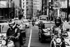 交通仓促在São保罗,巴西 免版税库存照片