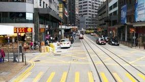 交通和城市生活在这个亚洲国际事务和金融中心 免版税库存图片