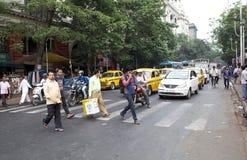 交通在加尔各答,印度 免版税库存照片