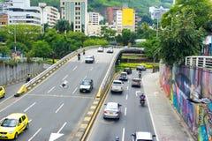 交通在卡利,哥伦比亚 库存照片