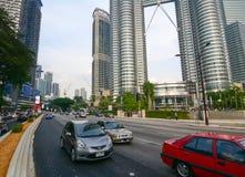 交通在吉隆坡,马来西亚 库存图片