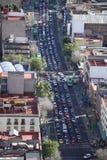 交通在墨西哥城 库存照片