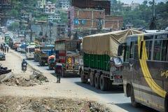 交通在尼泊尔 图库摄影